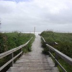 Cocoa Beach behind Wakulla Suites