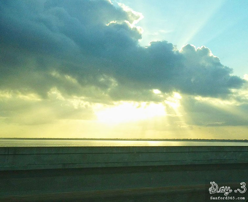 Day 3 – Sunset over Lake Jesup