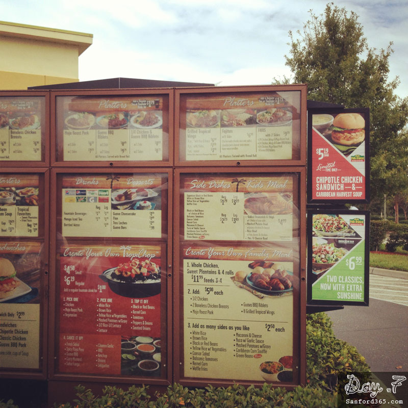 Day 7 – Pollo Tropical Drive Through