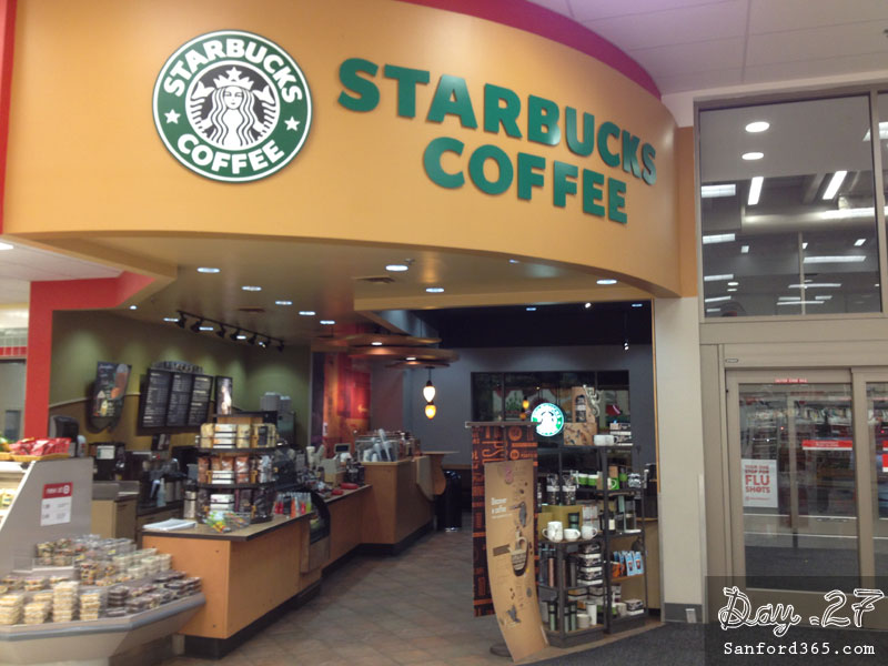 Day 27 – The only Starbucks in Sanford