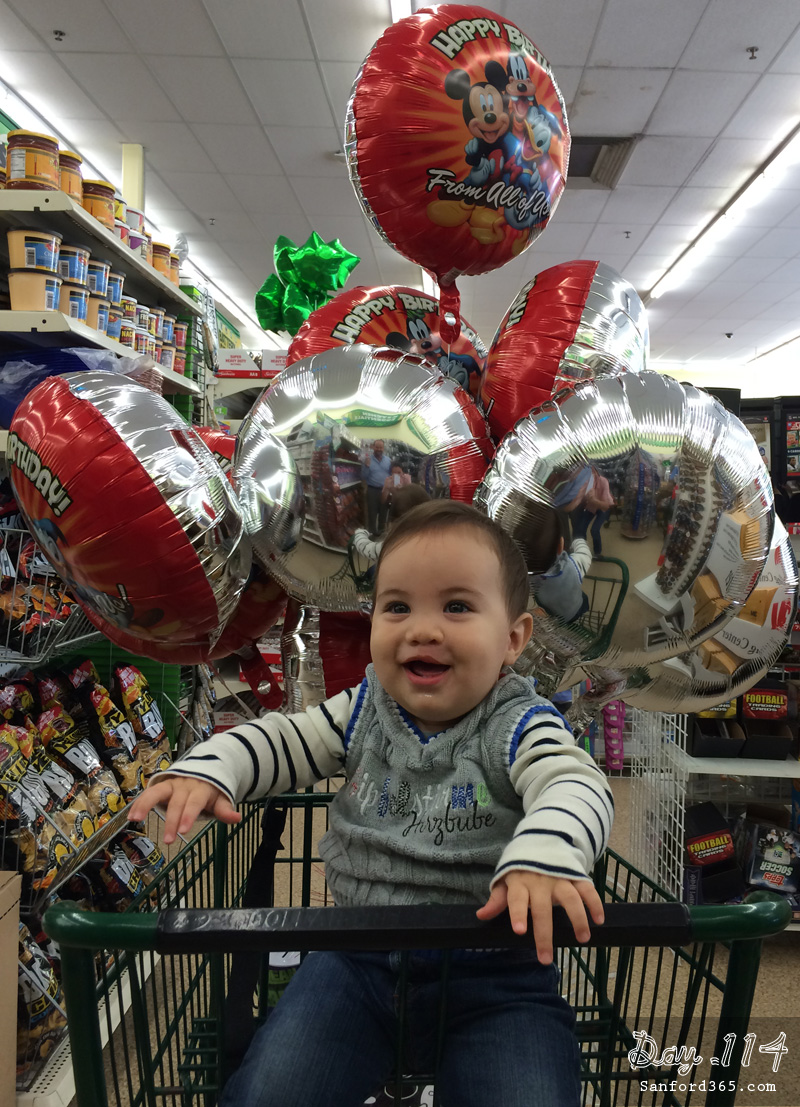 Day 114 – Balloon Shopping at the Dollar Store