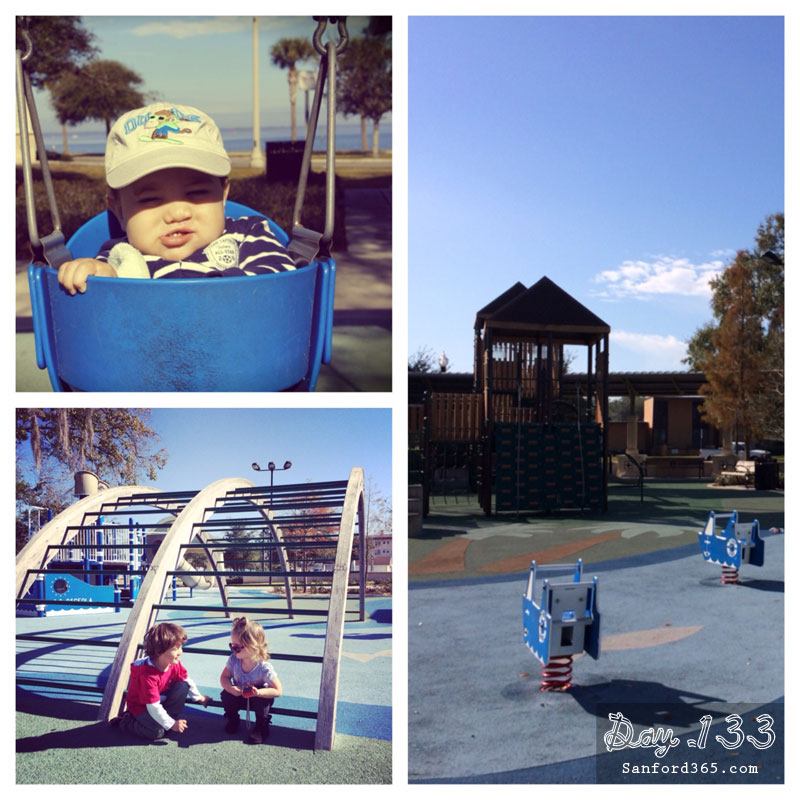 Day 133 – First Swing at Ft Mellon Park Playground