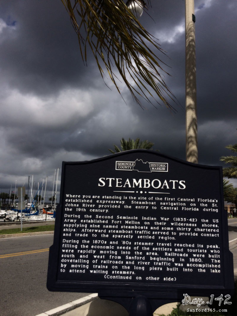 Historical Markers at Marina in Sanford FL