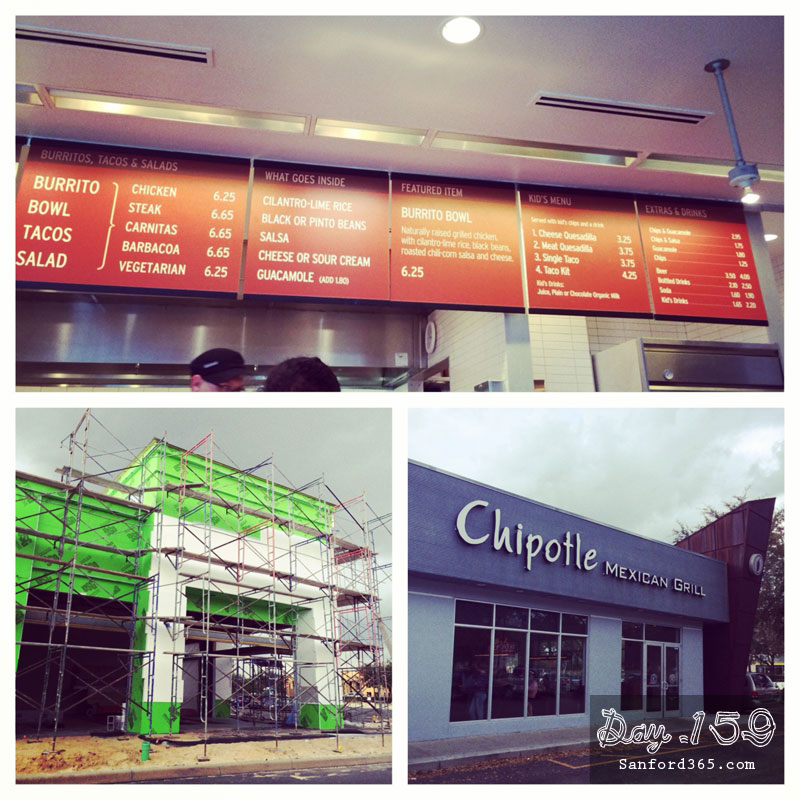 Day 159 – Chipotle Sanford FL?