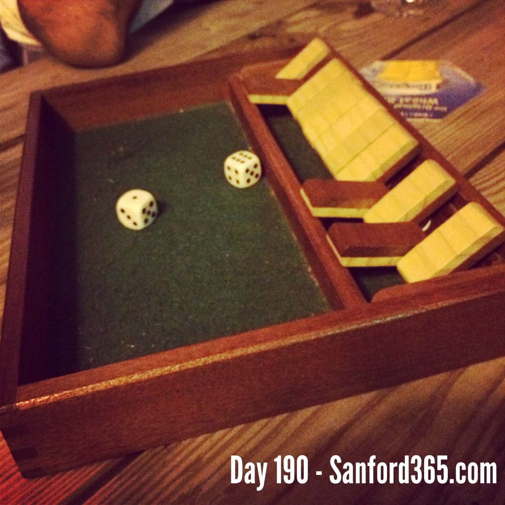 Day 190 – Shut the Box