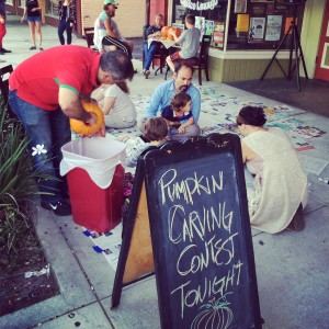 Pumpkin Carving Community Event at Rabbitfoot Records Sanford FL
