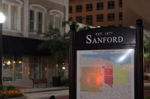 Sanford FL First Street Sign