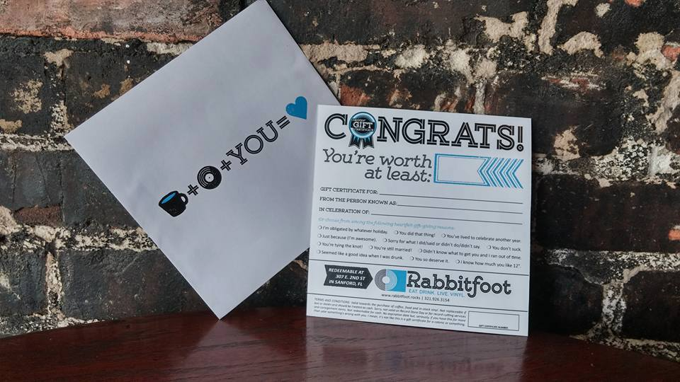 rabbitfoot gift card