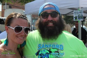 Paul Williams and Heather at Pints n' Paws