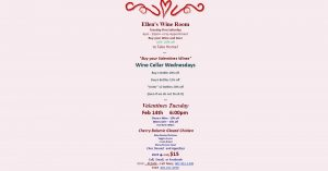 Ellens Wine Room Valentines 2017