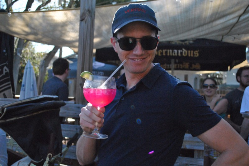 Justin at a petanque tournament