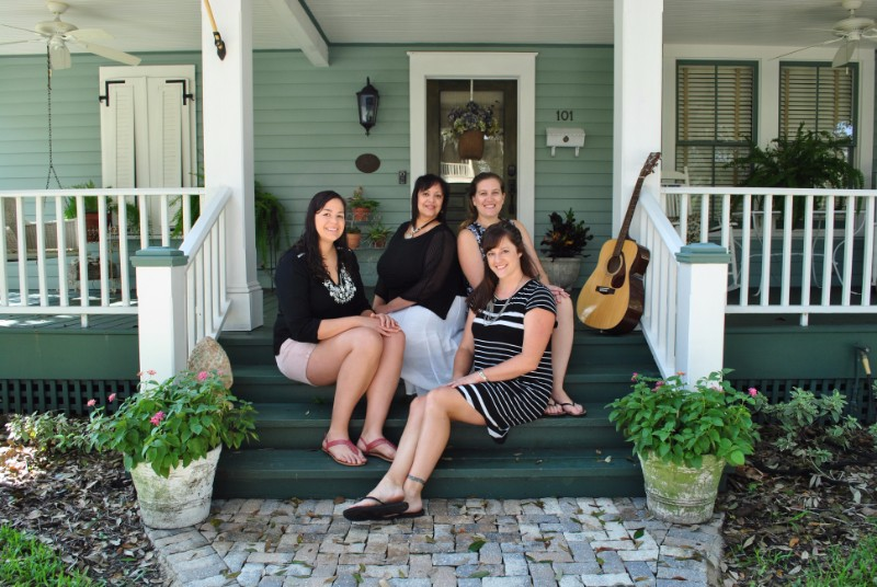 The founders of Porchfest, a music festival in Sanford FL on porch steps