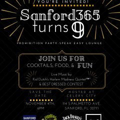 Sanford365 turns 9! Prohibition Party – Speak Easy Lounge
