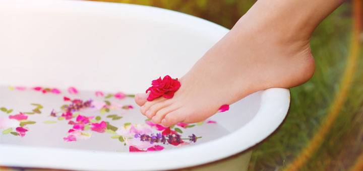 Book a Victorian Footbath for Valentine's Day in Sanford
