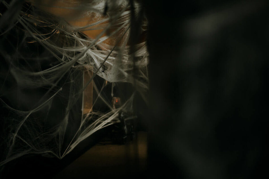 A look inside the first Haunted House in Sanford FL - Spider Webs