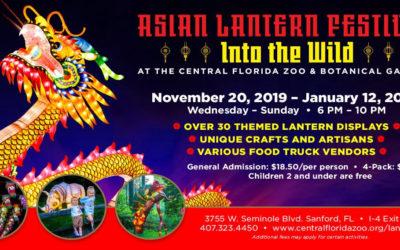 Inaugural Asian Lantern Festival Coming to the Central Florida Zoo & Botanical Gardens