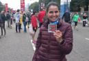 Eu, Fernanda Mendonça, maratonista, com muito orgulho