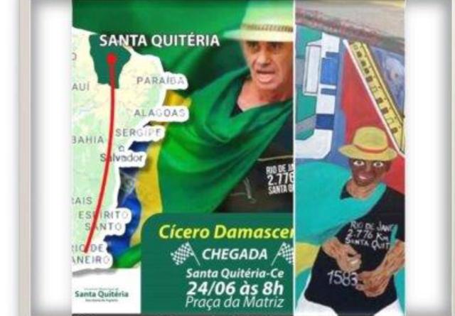 Eu sou o Cícero Damasceno, corredor ultramaratonista