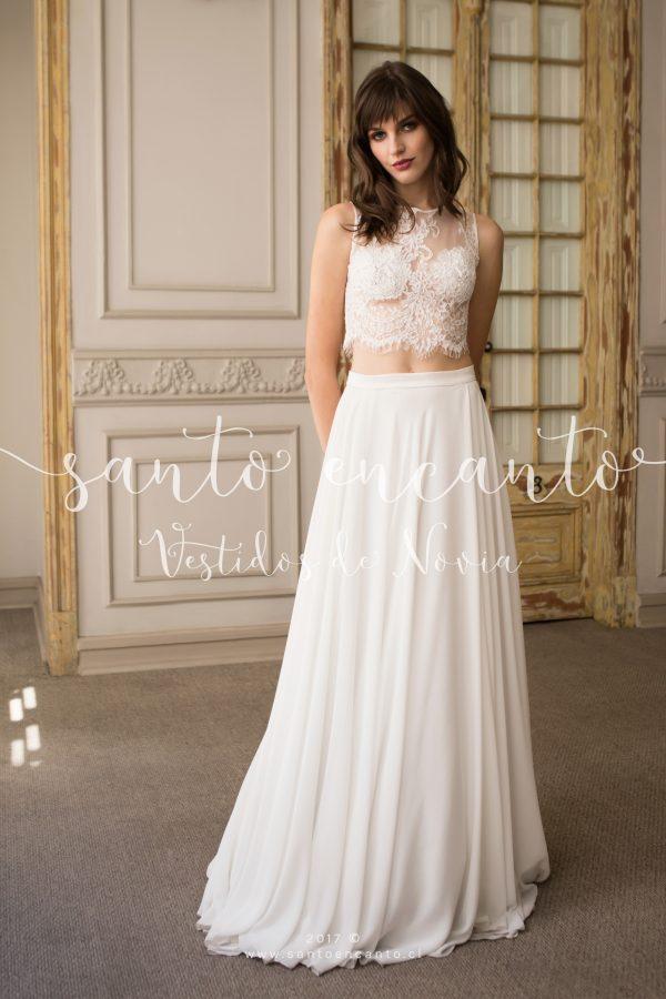 Vestido de novia 2 piezas