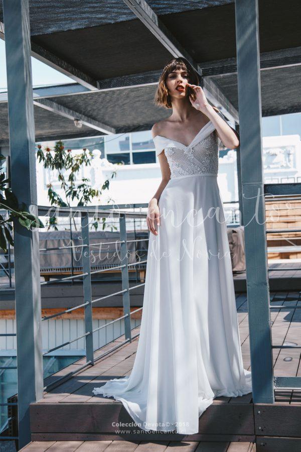Vestido de novia off the shoulders