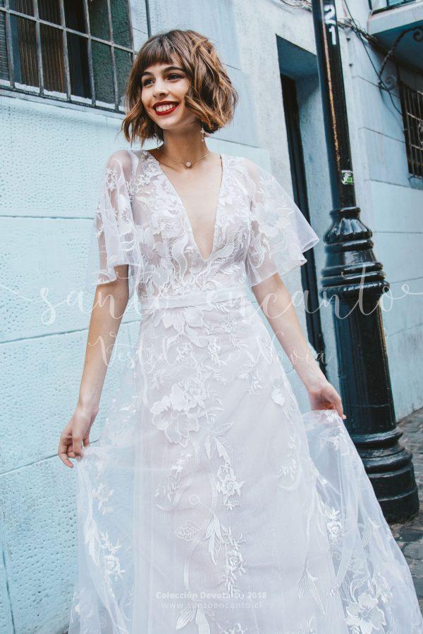 Vestido de novia con mangas