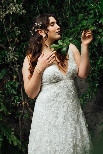 Vestido de novia en macrame