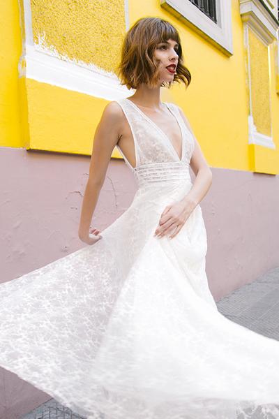 Vestido novia ligero