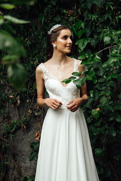 Vestido de novia simple