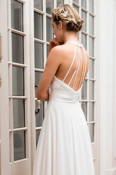 Vestido de novia halter