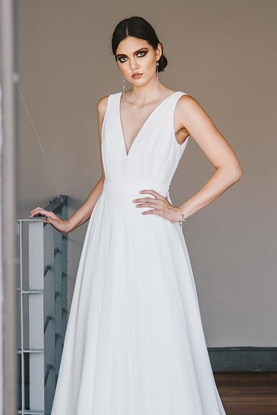 Vestido de novia clásico de gasa