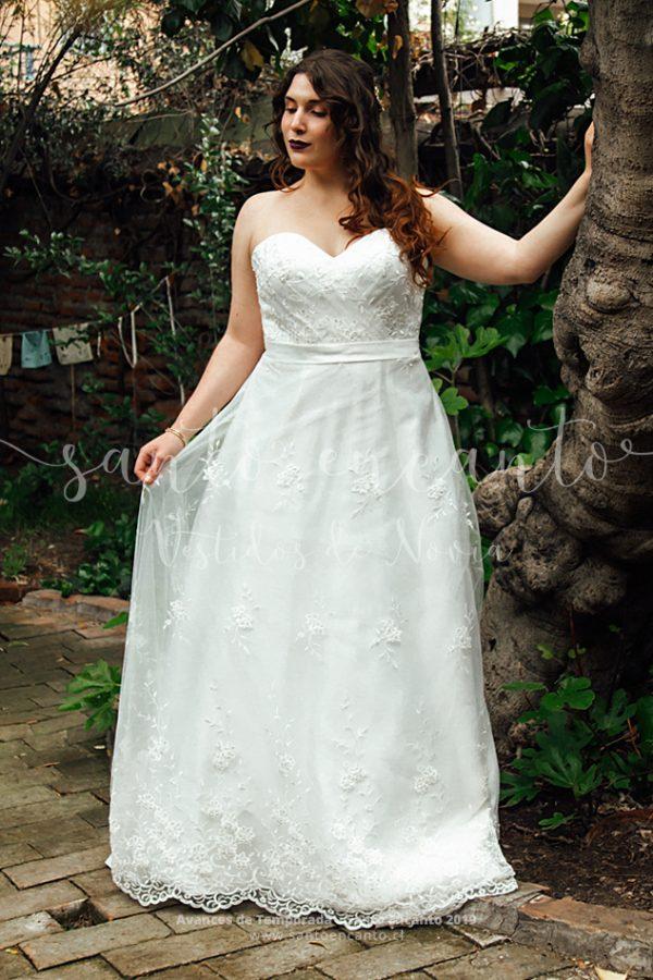 Vestido novia clásico en A