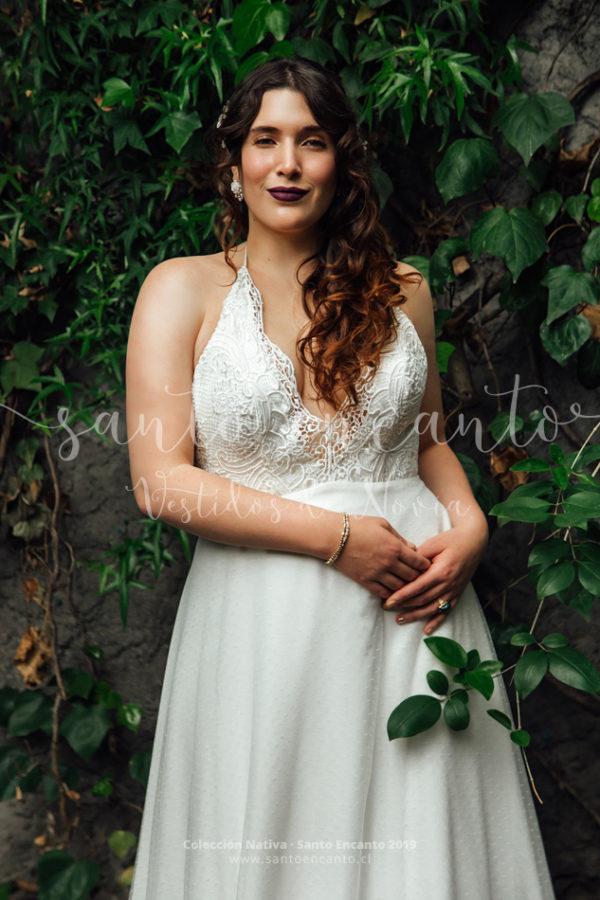 Vestido novia playero