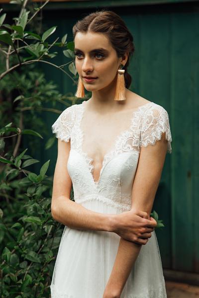 Vestido de novia boho, ligero