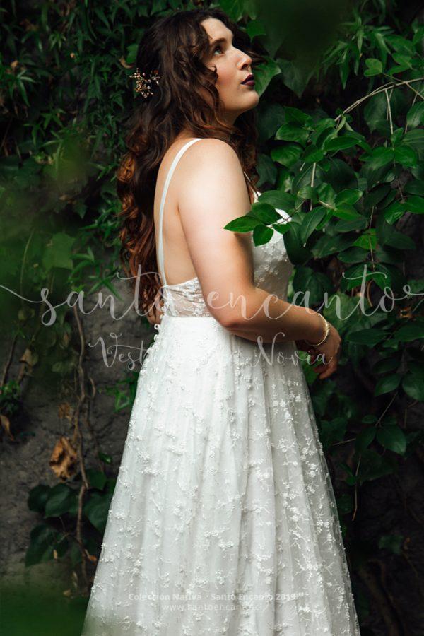 Vestido de novia escote corazón