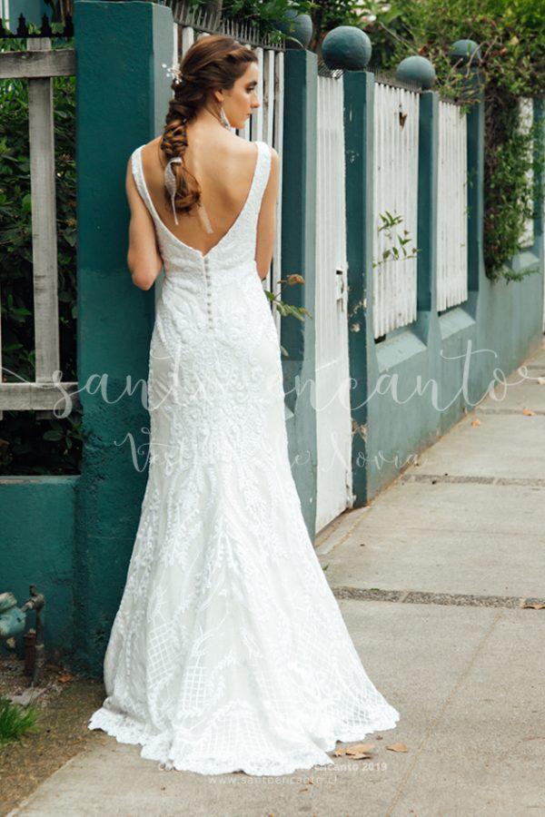 Vestido de novia sirena bordado