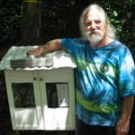 Patrick Edmondson and his Little Free Library