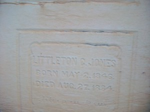 The lettering on the Jones Mausoleum remains legible ...  Credit: David Pendered