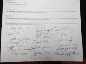Signatures.