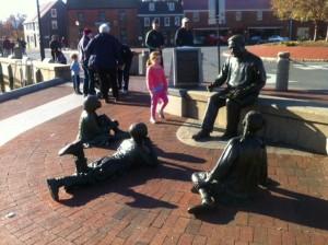 The Kunte Kinte-Alex Haley Memorial at the Annapolis (MD) City Dock