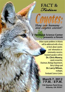 Poster for the 2012 Coyote Forum