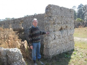 Kenneth H. Thomas Jr. at Chocolate Plantation ruins in Sapelo Island, 2012.