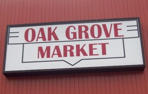 Oak Grove Market sign