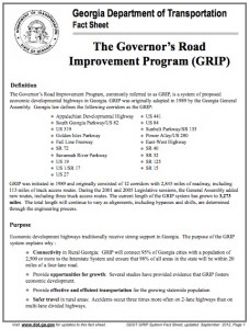 Governor's Road Improvement Program