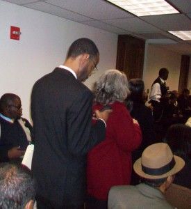 A standing-room-only crowd attended the Fulton County delegation meeting. Credit: David Pendered