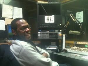 WCLK 90.1 morning DJ Morris Baxter (photo Ben Smith).