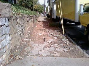 Almost 20 percent of sidewalks in Atlanta are in need of repair, according to a city report. Credit: PEDS