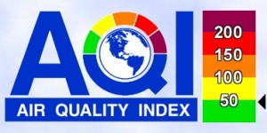 """Metro Atlanta's air quality is related to tailpipe exhaust, which commuters can address through their decisions on how to travel around the region. On Monday, the air quality was on the border between """"good"""" and """"unhealthy for sensitive groups."""" Credit: Georgia Department of Natural Resources"""