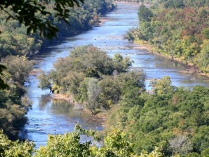 The Flint River begins in Hapeville and winds its way toward a junction in south Georgia with the Chattahoochee River. Credit: sherpaguides.com