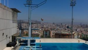 Barcelona's diving venue (Photo in Jon Pack & Gary Hustwit exhibit)