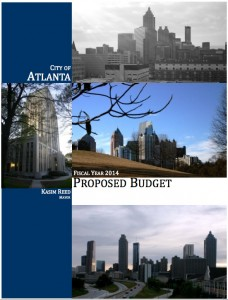 This is the cover of the budget proposal from Atlanta Mayor Kasim Reed. Credit: City of Atlanta